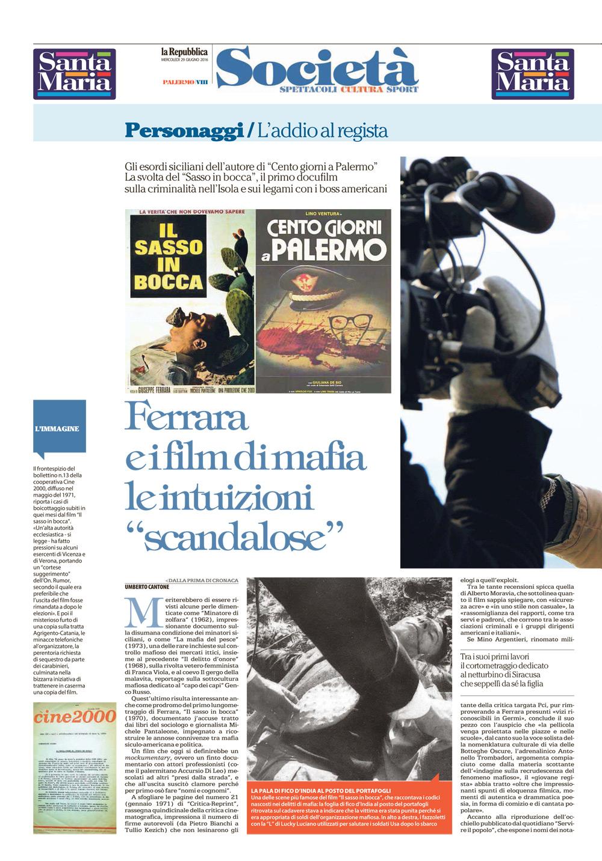 "Ferrara e i film di mafia. Le intuizioni ""scandalose"""