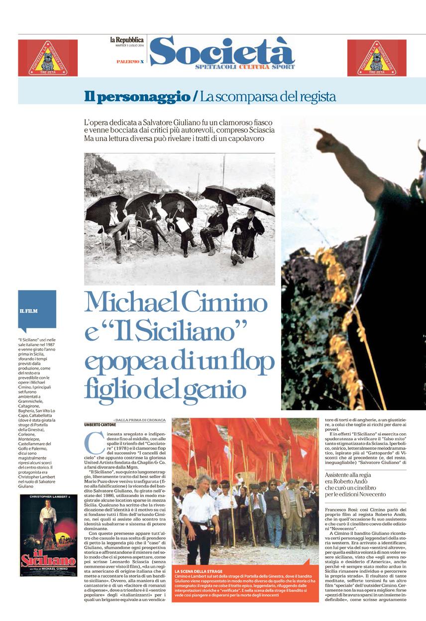 """Michael Cimino e """"Il Siciliano"""", epopea di un flop figlio del genio"""
