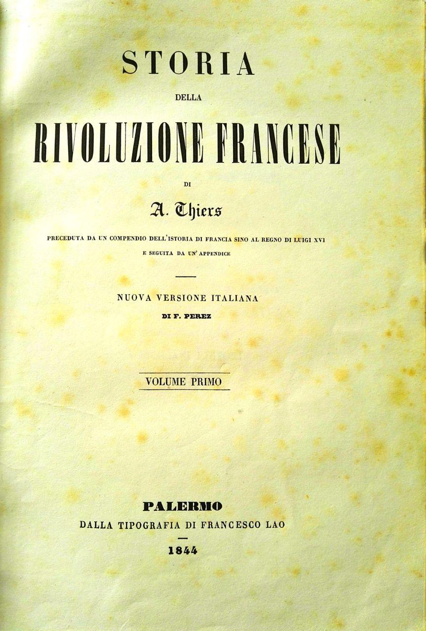 Il palermitano Lanza e la Rivoluzione francese