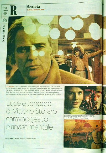 Luce e tenebra di Vittorio Storaro caravaggesco e rinascimentale